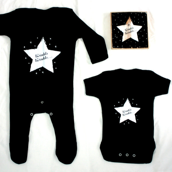 Black and White Unisex Baby Clothes