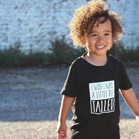 Black I Wish I Was a Little Bit Taller T-Shirt // Short Sleeved