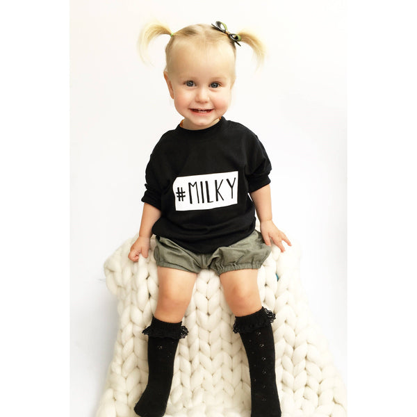 Slogan tee for toddlers