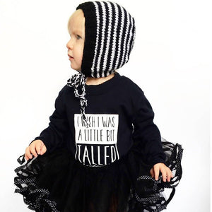 Black I Wish I Was A Little Bit Taller T-Shirt - Long Sleeved