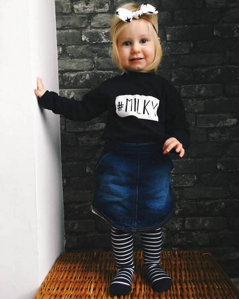 #MILKY monochrome kids t shirt