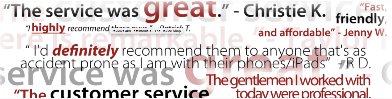 The Device Shop is the most trusted name in mobile device repair.