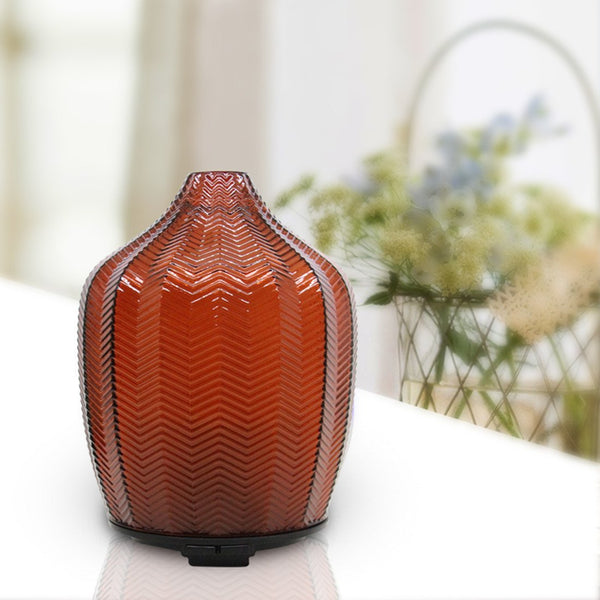 Dark Red Glass Ultrasonic Aroma Diffuser & Night Light