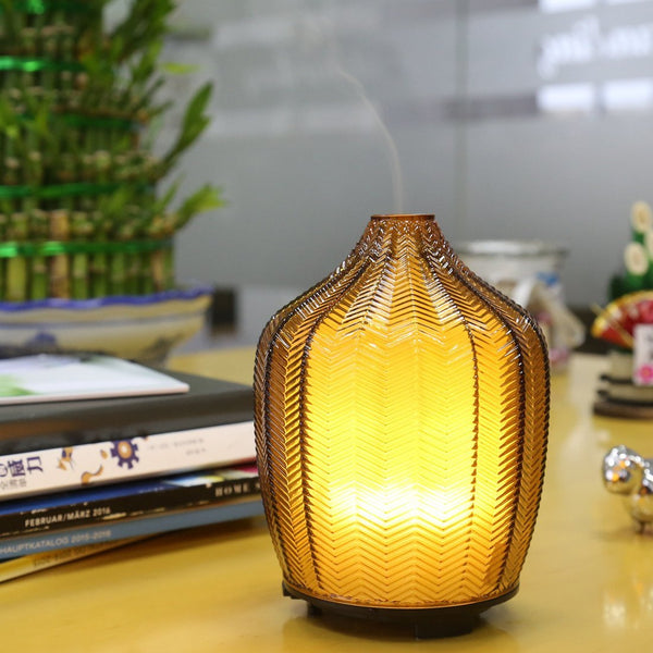 Yellow Glass Ultrasonic Diffuser & Night Light