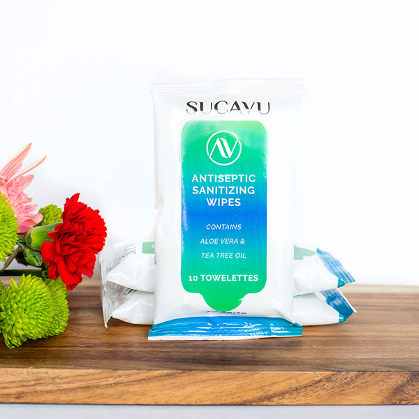 Sucavu Sanitizing Wipes + Aloe Vera