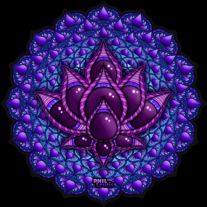 Crown Chakra -Lotus - Sticker