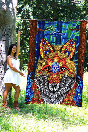 Electric Fox Tapestry