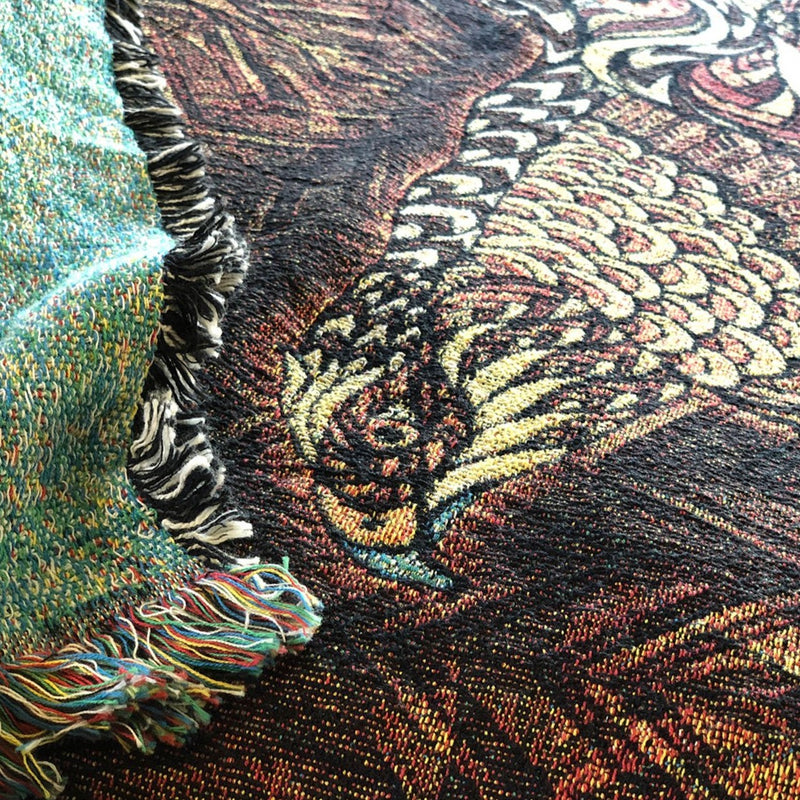 Red-Tailed Hawk - Woven Blanket