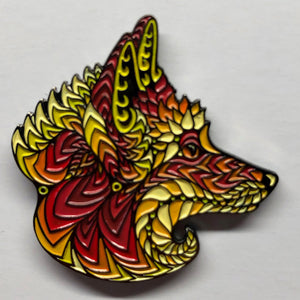 Red Foxy Face Pin