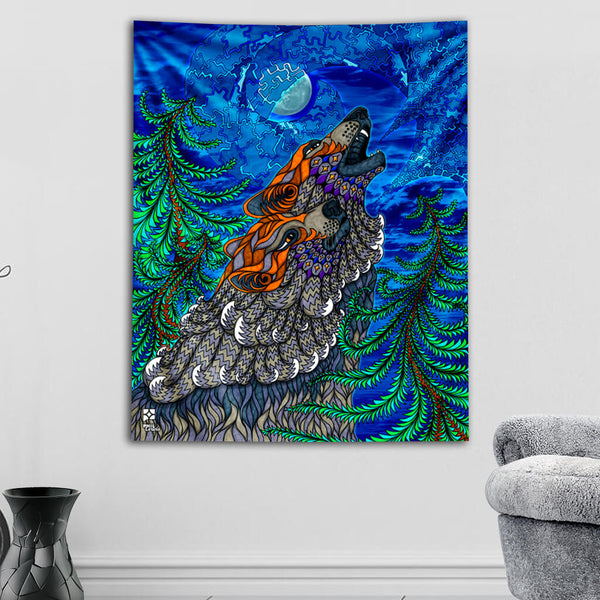 Wolf Song Tapestry
