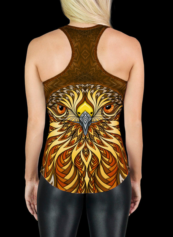 RED-TAILED HAWK RACERBACK TANK