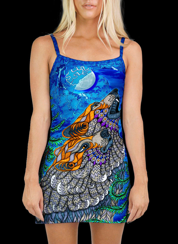 WOLF SONG MINI DRESS