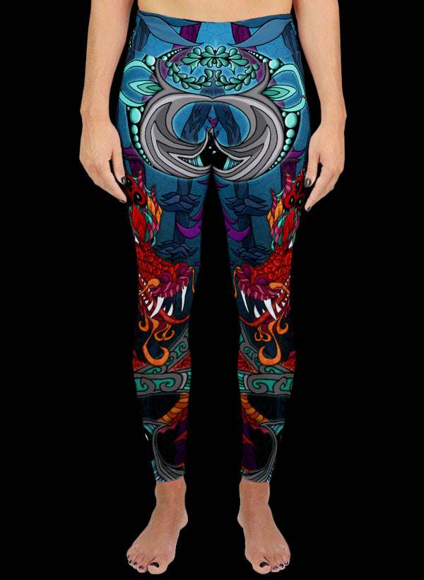 THE RED DRAGON Active Leggings