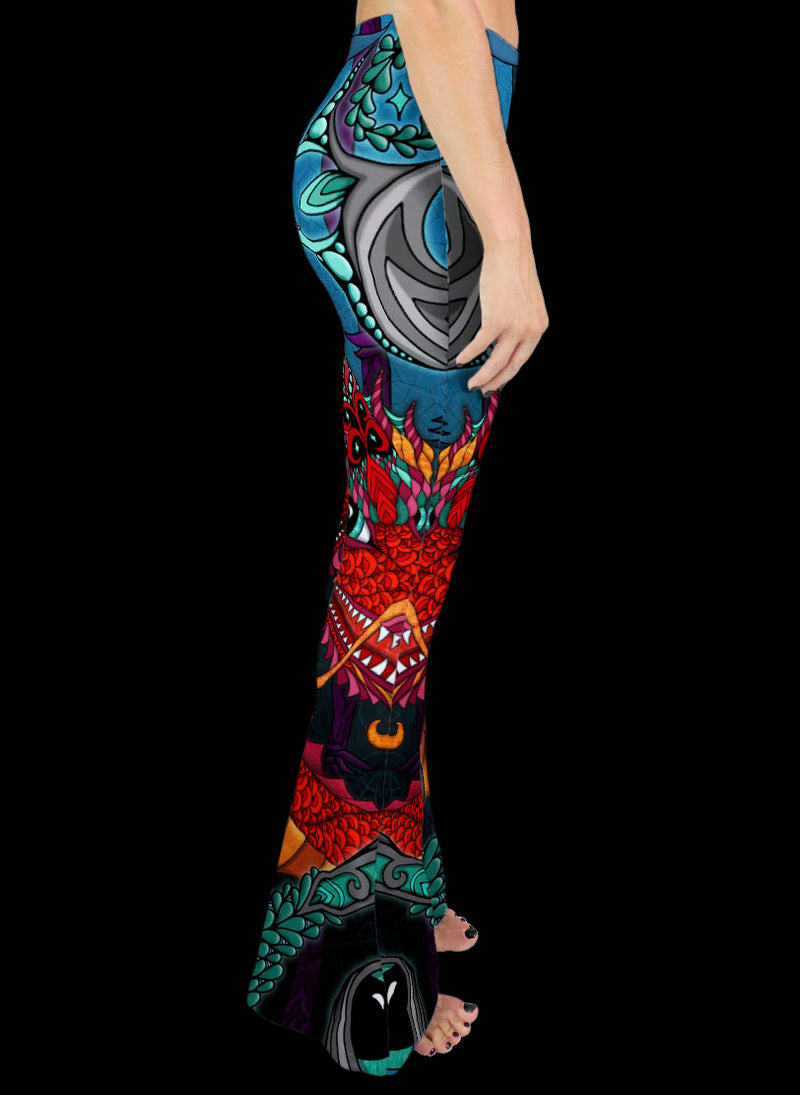 THE RED DRAGON Bell Leggings
