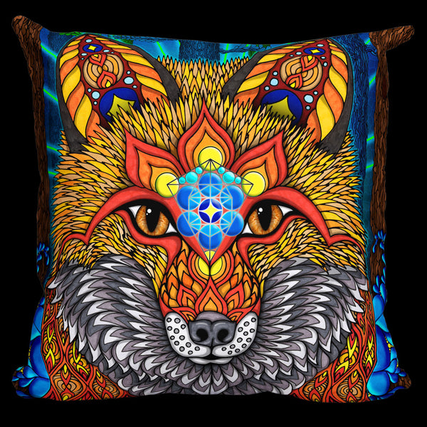 THE ELECTRIC FOX Pillow