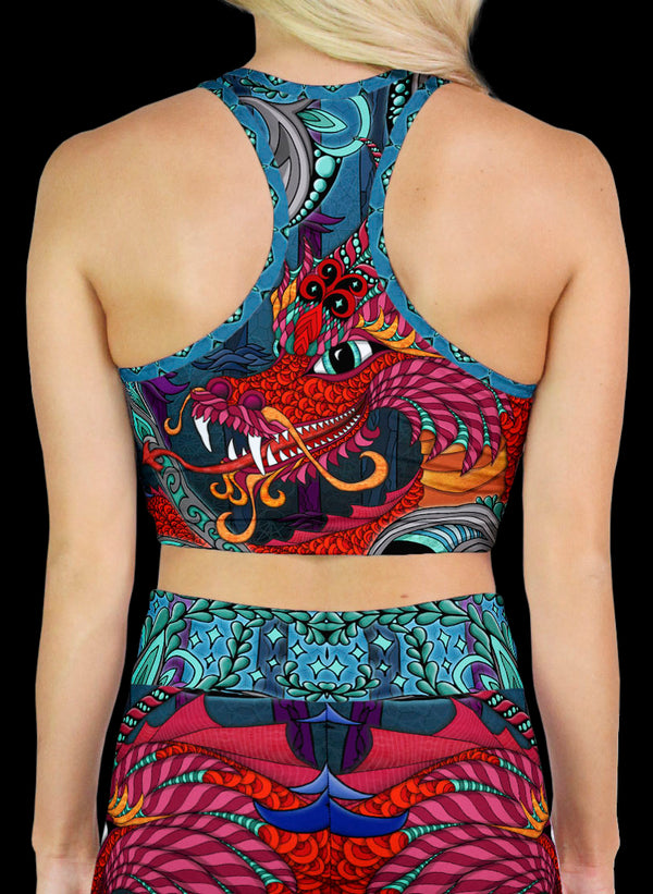 THE RED DRAGON Racerback Crop