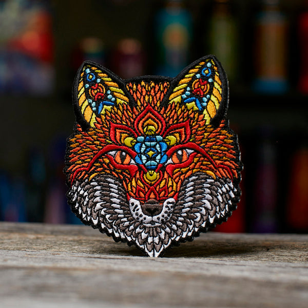 Electric Fox - Embroidered Patch