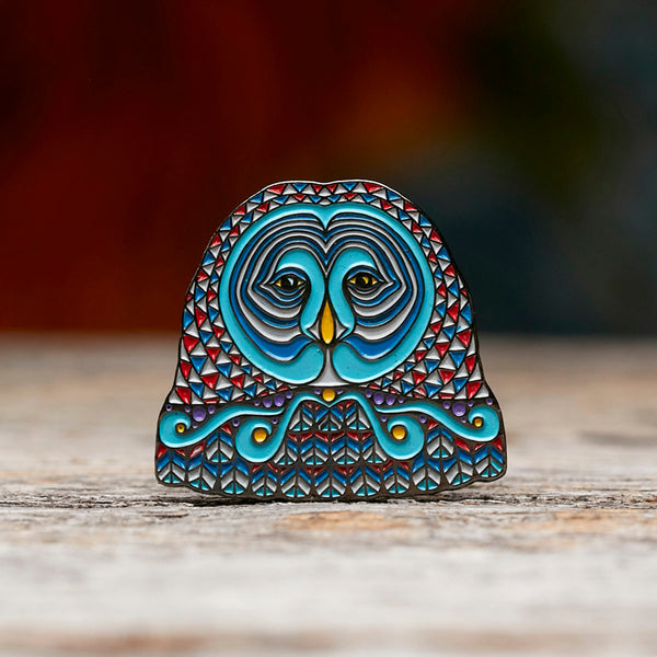 Owl Face Pin