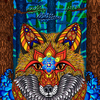 Electric Fox - Print