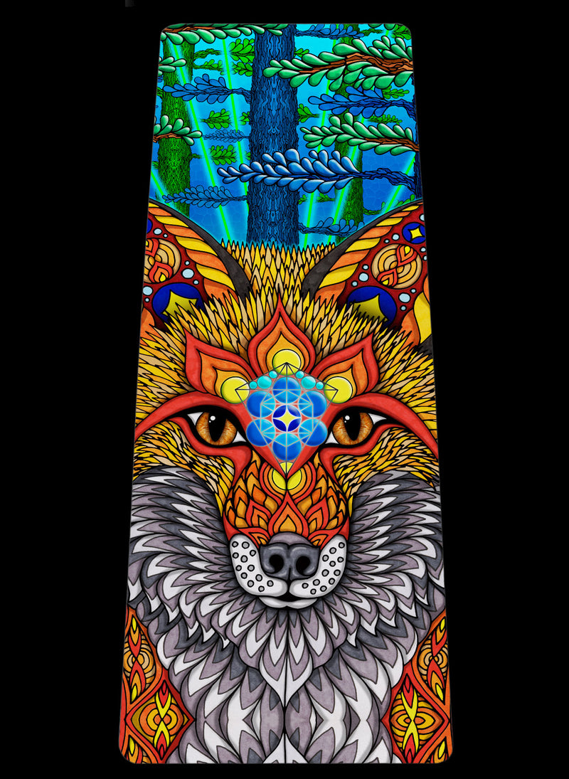 THE ELECTRIC FOX YOGA MAT