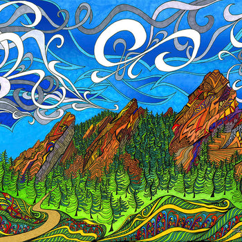 The Flatirons Poster