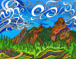 The Flatirons Puzzle - XL Size