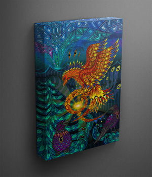 Electric Fox - Canvas Print