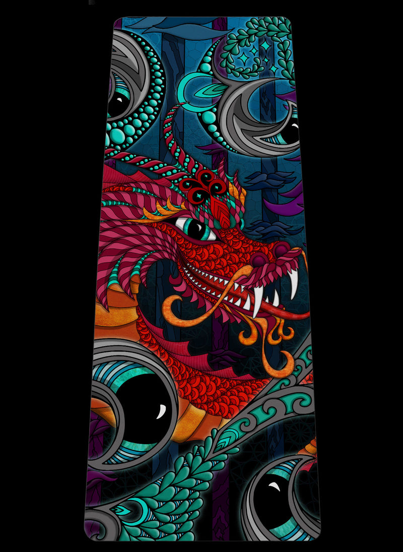 THE RED DRAGON YOGA MAT