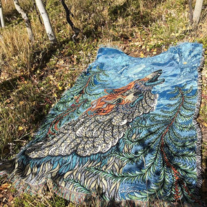 Wolf Song - Woven Blanket