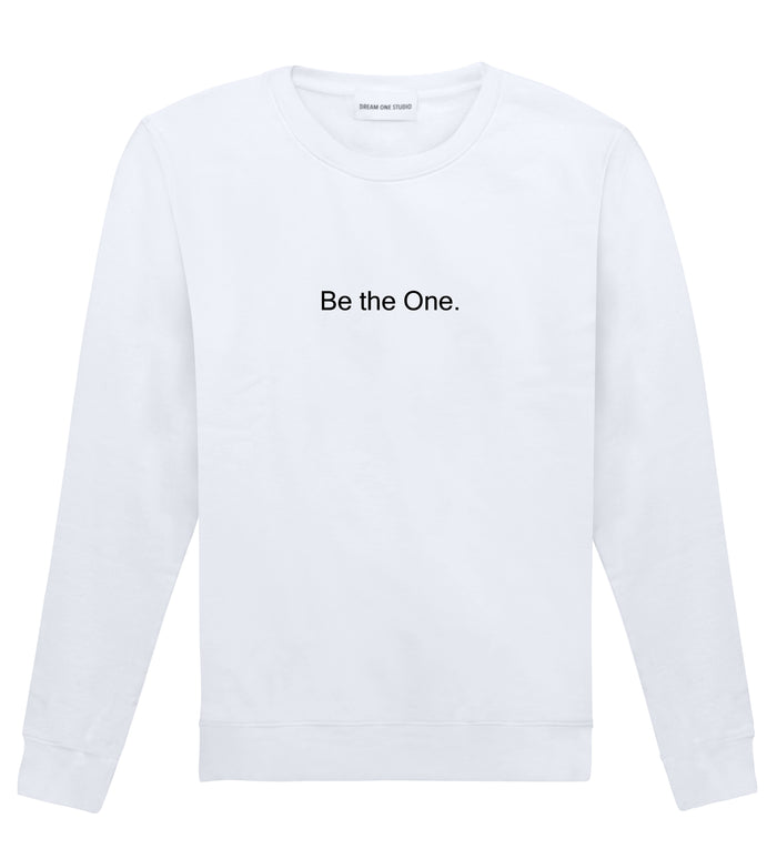 Sweat Unisexe Dream One Studio Be the One Black 100% coton bio