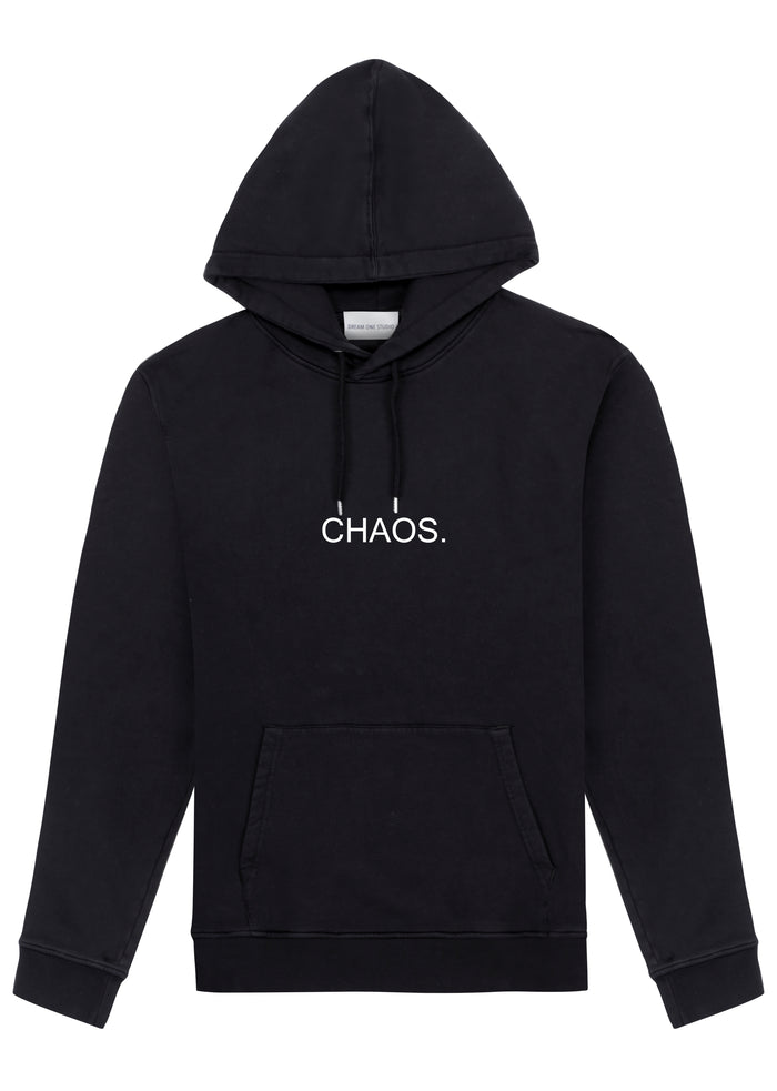 Hoodie Unisex Noir 100% Coton organique - CHAOS DREAM ONE STUDIO