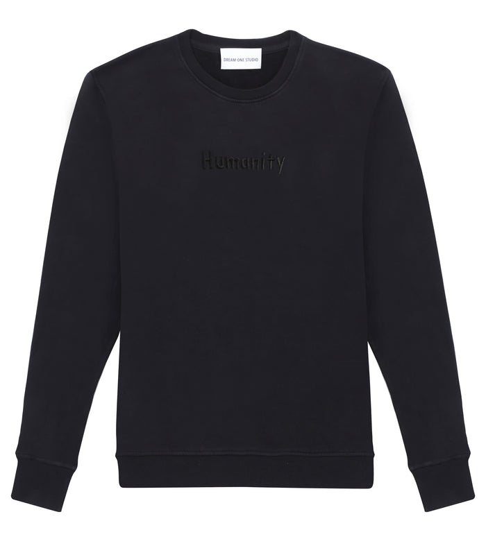 Sweat Unisex Black Dream One Studio Broderie