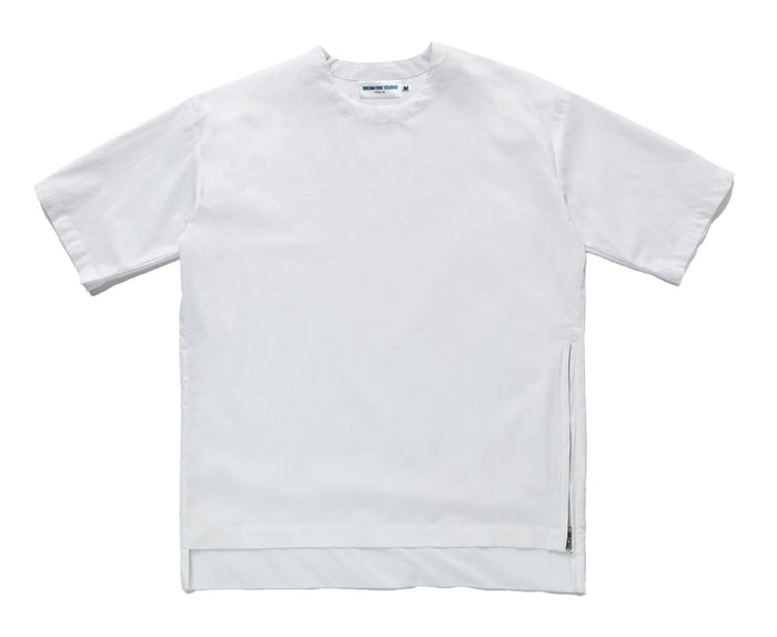 t-shirt zip blanc unisexe dream one studio
