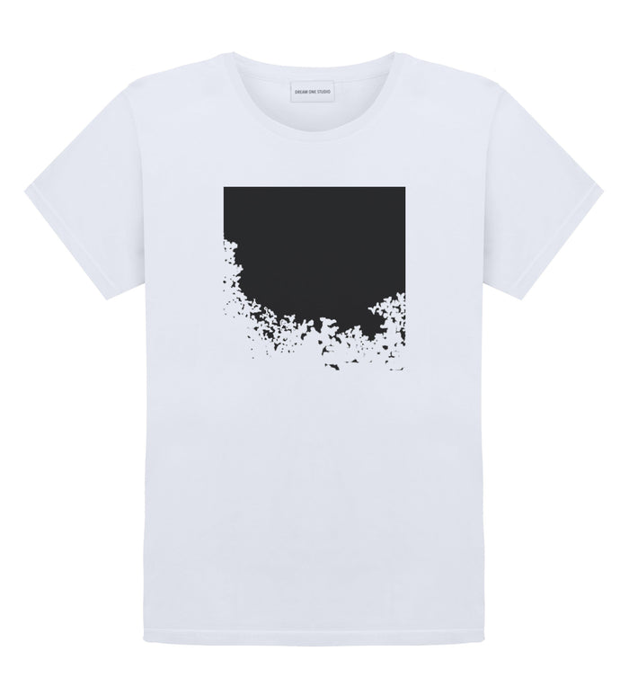 T-Shirt Unisex Blanc 100% Coton organique - Disapearing