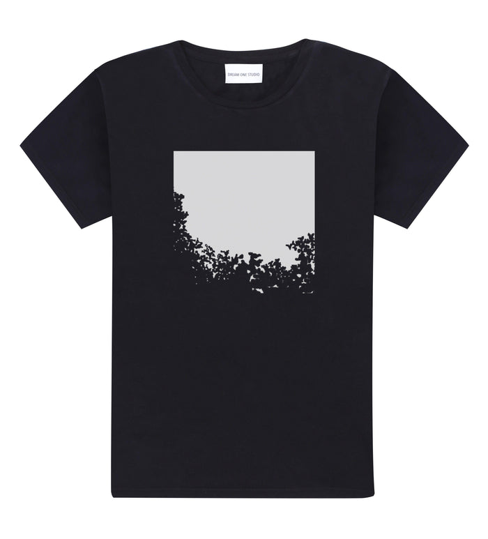T-Shirt Unisex Noir 100% Coton organique - Disapearing