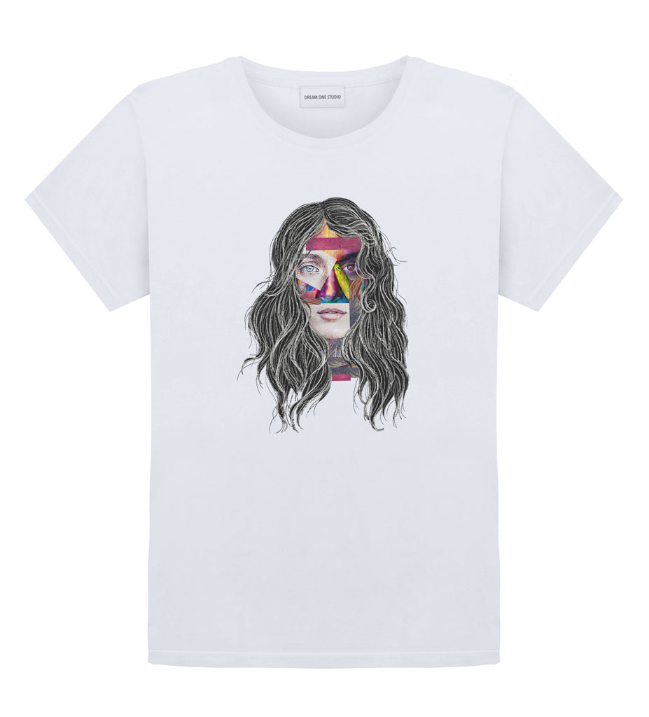 T-Shirt Unisex Blanc 100% Coton organique - Imagine Girl