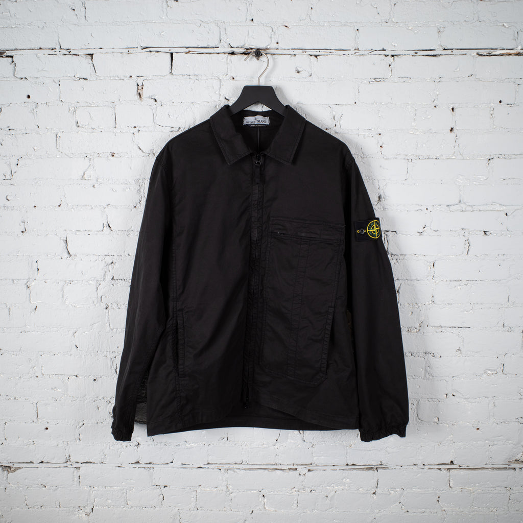 ZIPPERED OVERSHIRT BLACK
