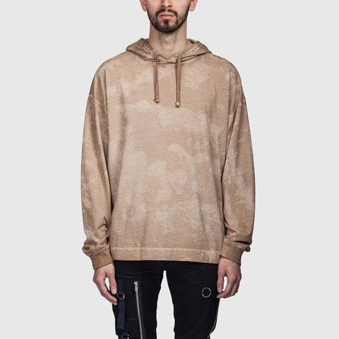 Hooded LS T Shirt Camo