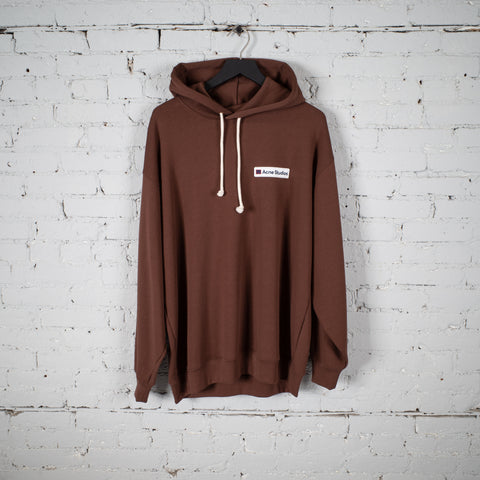 FACE HOODED SWEATSHIRT DARK BROWN