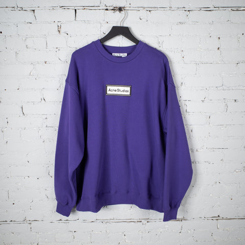 REVERSE LABEL SWEATSHIRT PURPLE