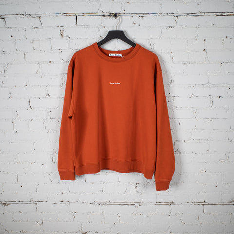 CREW SWEATSHIRT STAMP LOGO ORANGE