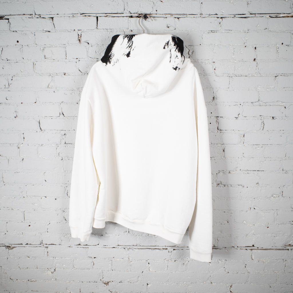 LOGO HOODED SWEATSHIRT WHITE