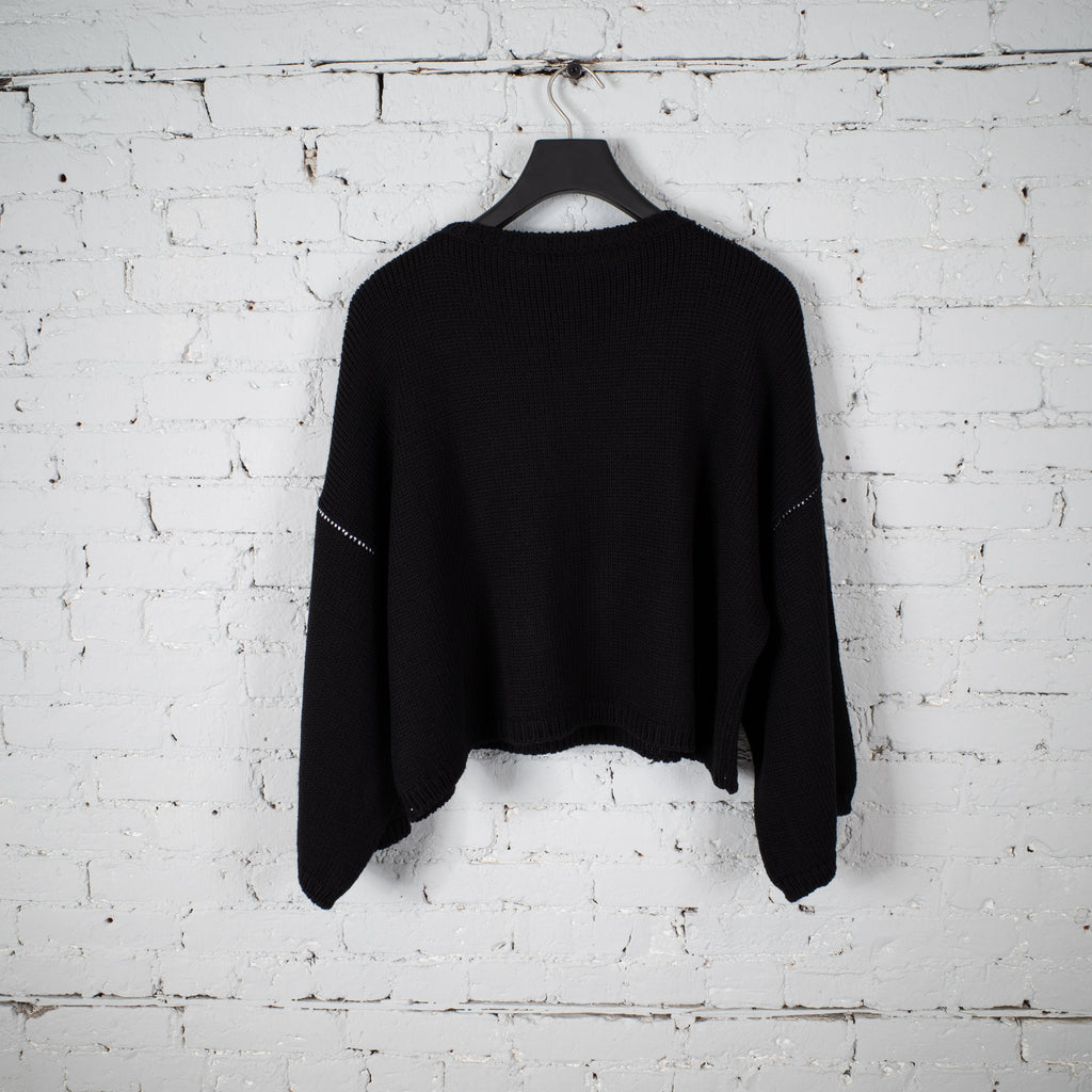 OVERSIZED RS SWEATER BLACK
