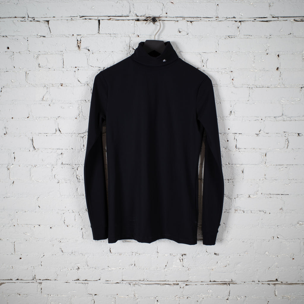 R EMBROIDERY TURTLENECK BLACK