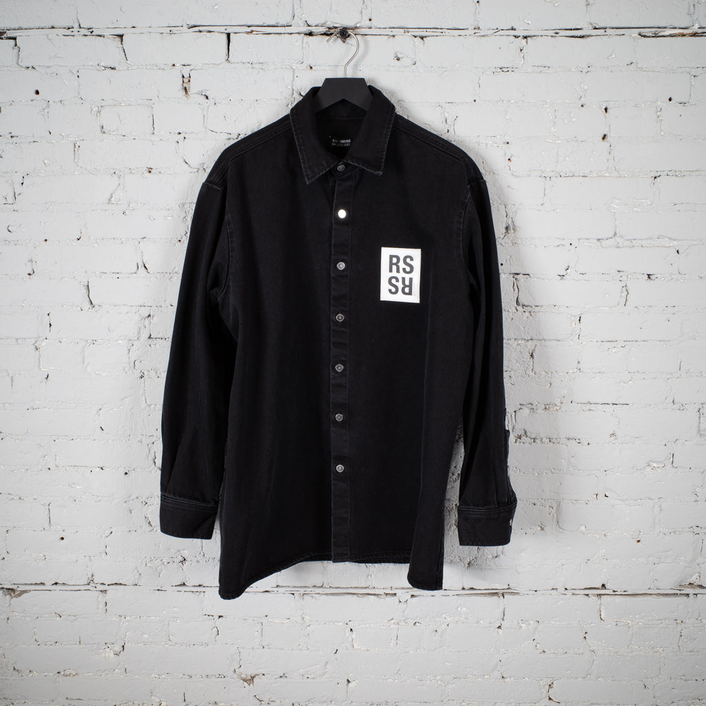 SLIM FIT DENIM SHIRT BLACK