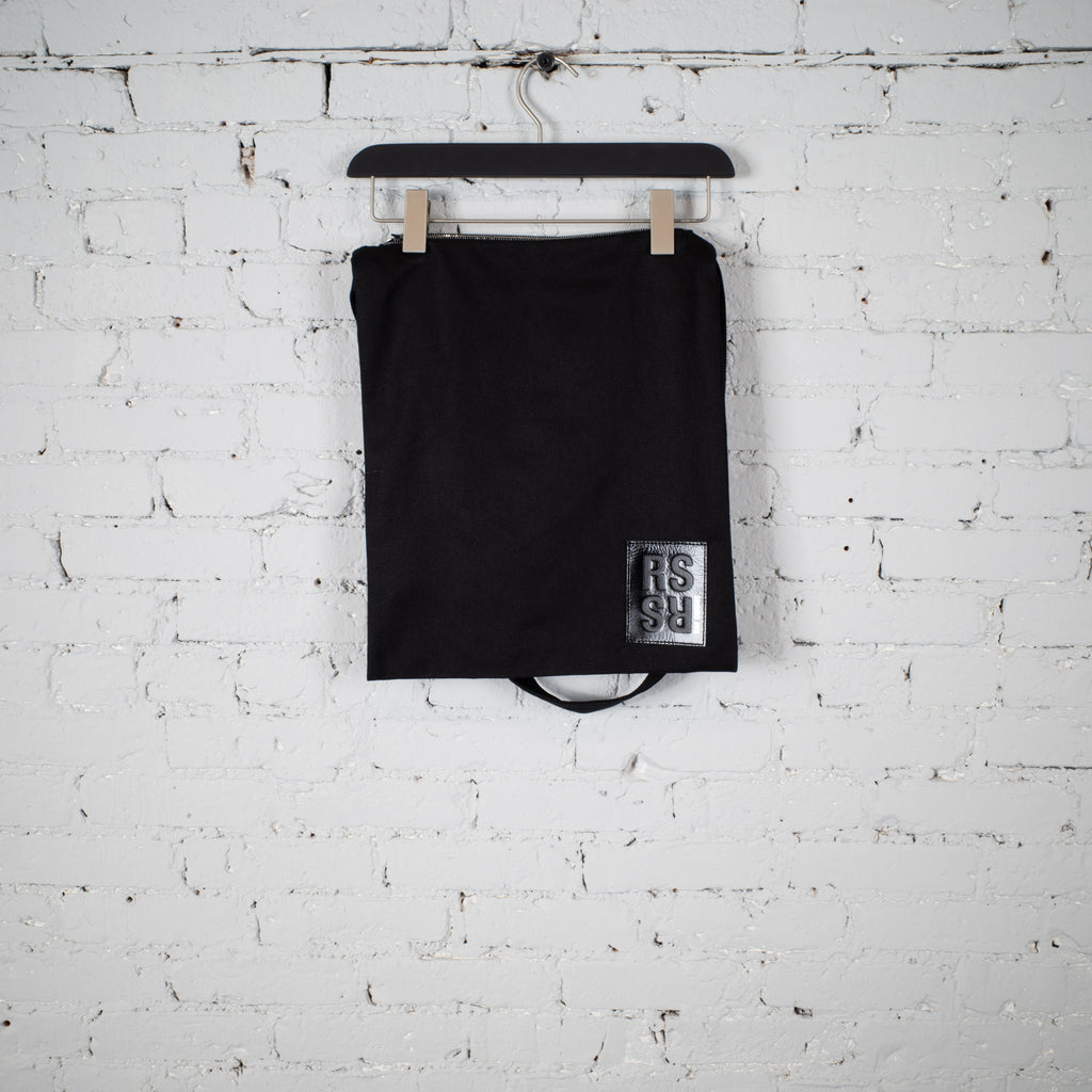 PRINTED DENIM TOTE BAG BLACK