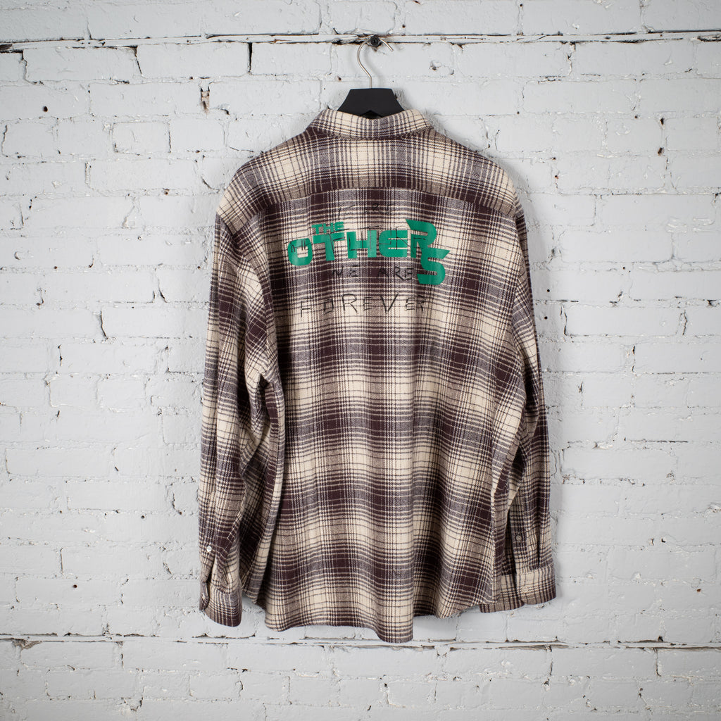 BIG FIT PLAID SHIRT THE OTHERS TOBACCO