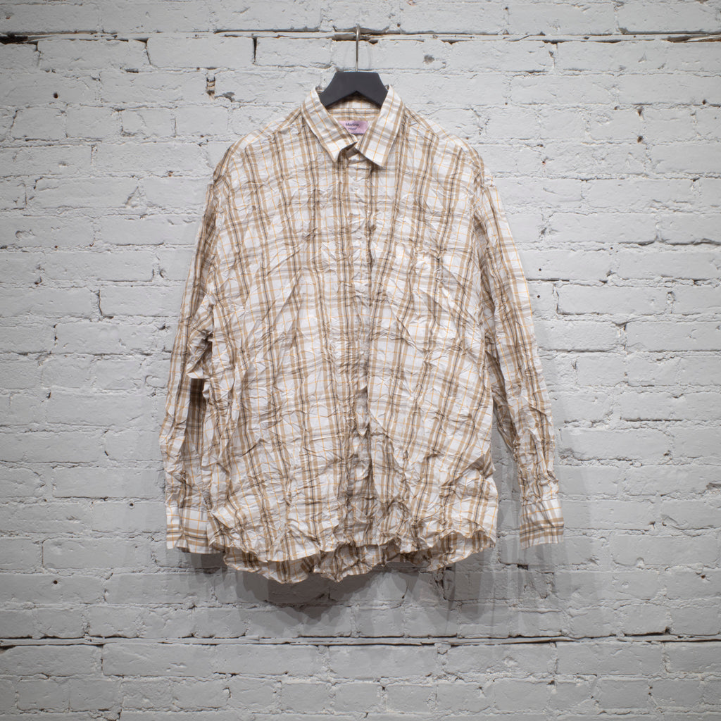 OVERSIZED CRINKLE SHIRT WHITE