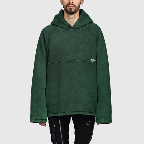 Martine Rose Acid Wash Hoodie Green