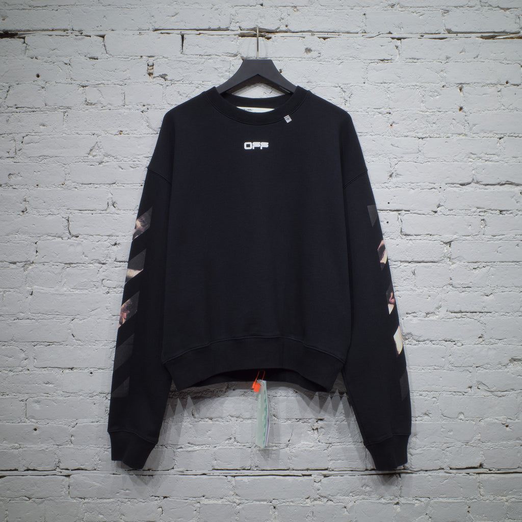 CREWNECK OVER CARAVAGGIO ARROW BLACK